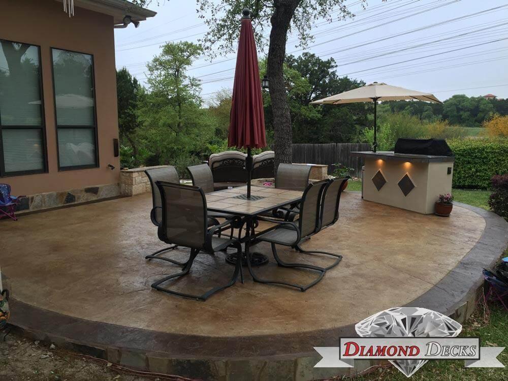 Stamped Concrete Patio San Antonio Concrete Patio Contractors